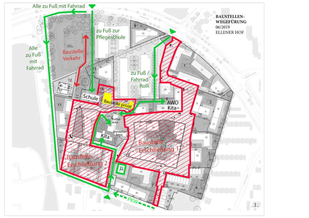 Stadtleben Ellener Hof Baustellenumleitung