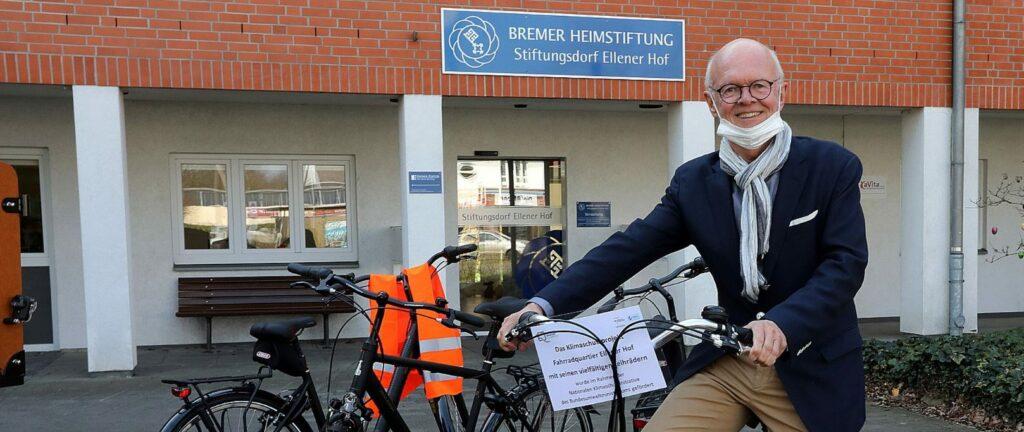 Stadtleben Ellener Hof Anlieferung der Leihfahrräder