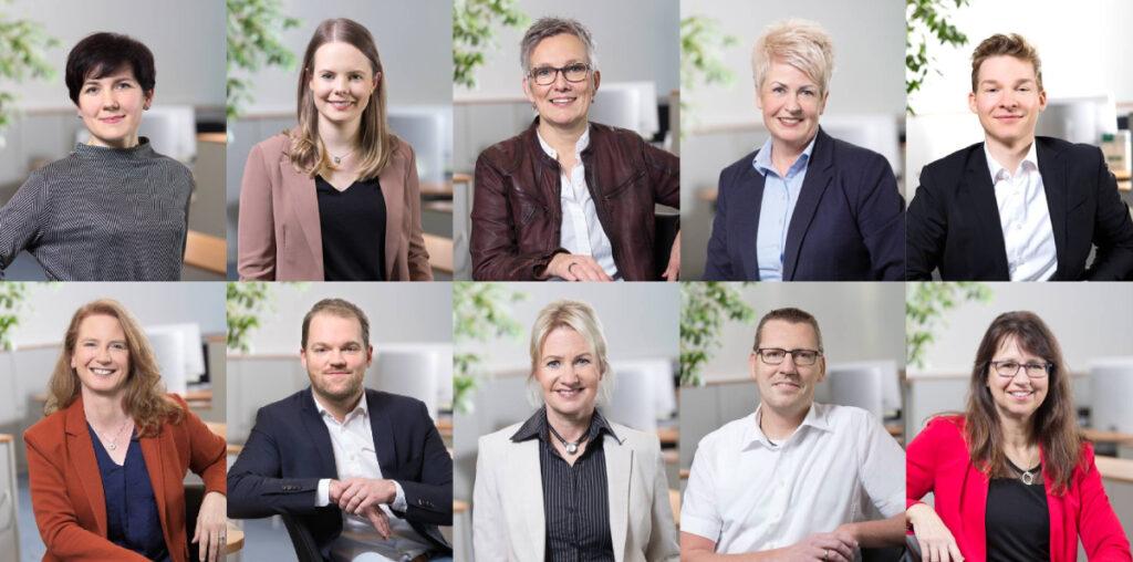 Das Team der neuen AOK-Geschäftsstelle im Stadtleben Ellener Hof